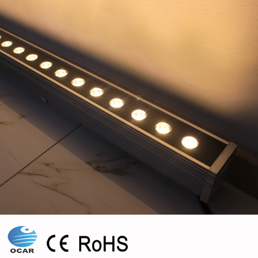 1M 24W LED Wall Washer Landscape light AC 24V AC 85V-265V outdoor lights wall linear lamp floodlight 100cm wallwasher