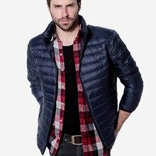 Мужские Осень Зима Утка Пуховик Мужчины Твердые Дышащие Куртки Мужские Пальто На Открытом Воздухе Куртка chaqueta hombre Плюс Размер 3XL