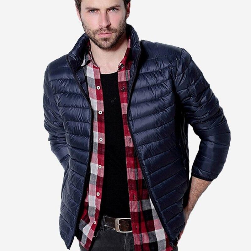 Для мужчин S осень-зима утка Подпушка куртка Для мужчин однотонная дышащая Куртки Для мужчин на открытом воздухе Пальто для будущих мам парка Chaqueta Hombre плюс Размеры 3XL