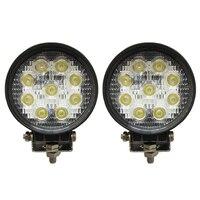 2 pcs 27W LED Work Light Lamp Spot Tractor Truck Mining J E E P 12V 24V ATV CP