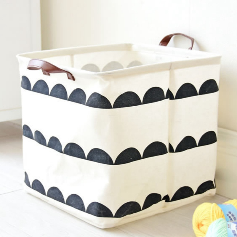 Foldable Waterproof Home Decoration Bathroom Dirty Clothes Laundry Storage Buckets Box Basket on ...