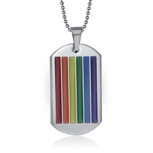 Lesbian Gay Pride Victory Colorful Coating Necklace