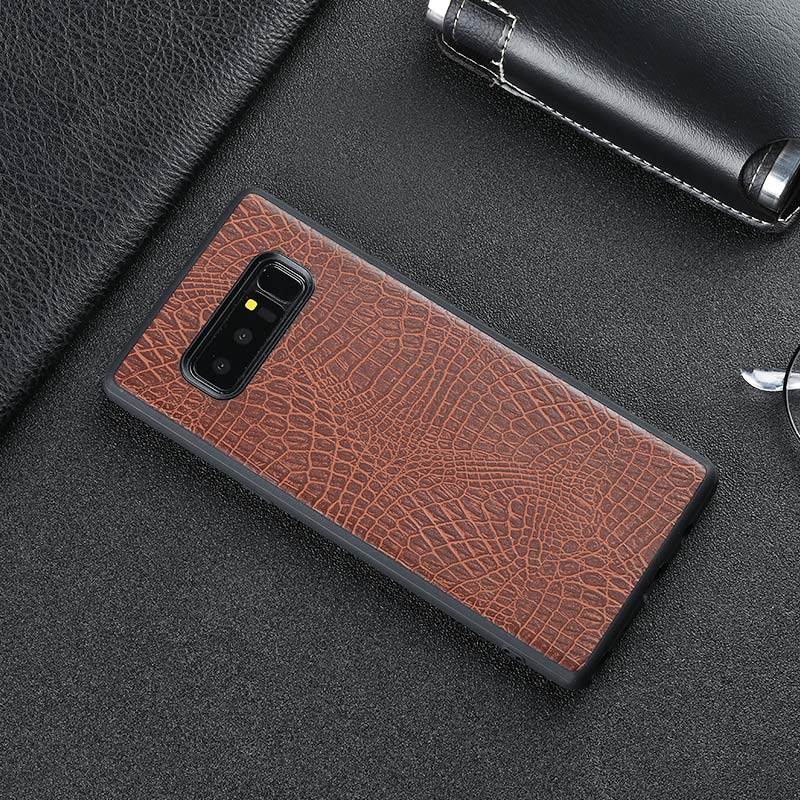 Vintage luxury crocodile leather business style fashion phone case shell coque cover For Samsung Galaxy S8 S8 Plus Galaxy Note 8