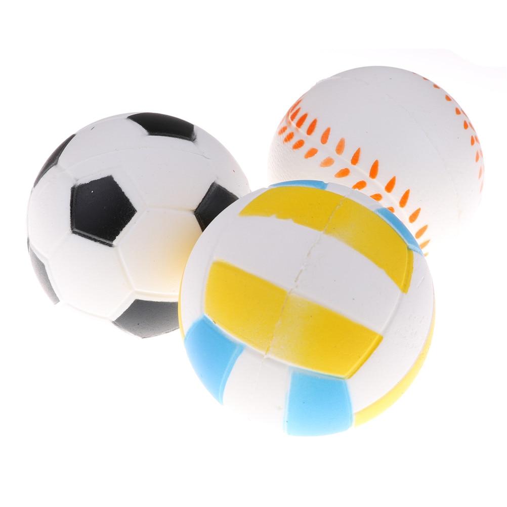 2019 Fashion 1pcs Anti Stress Ball Squishy Slow Rising Football9.5cm Pu Sponge Kids Funny Gadgets Surprise Bouncy Antistress Toy Phone Strap Cellphones & Telecommunications