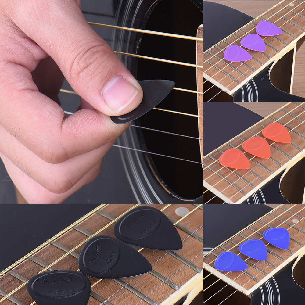 10Pcs 1Set Guitar Picks Pickup Different Thickness Bass Guitar Electric Guitarra Plectrums Accessories with plastic box package 3