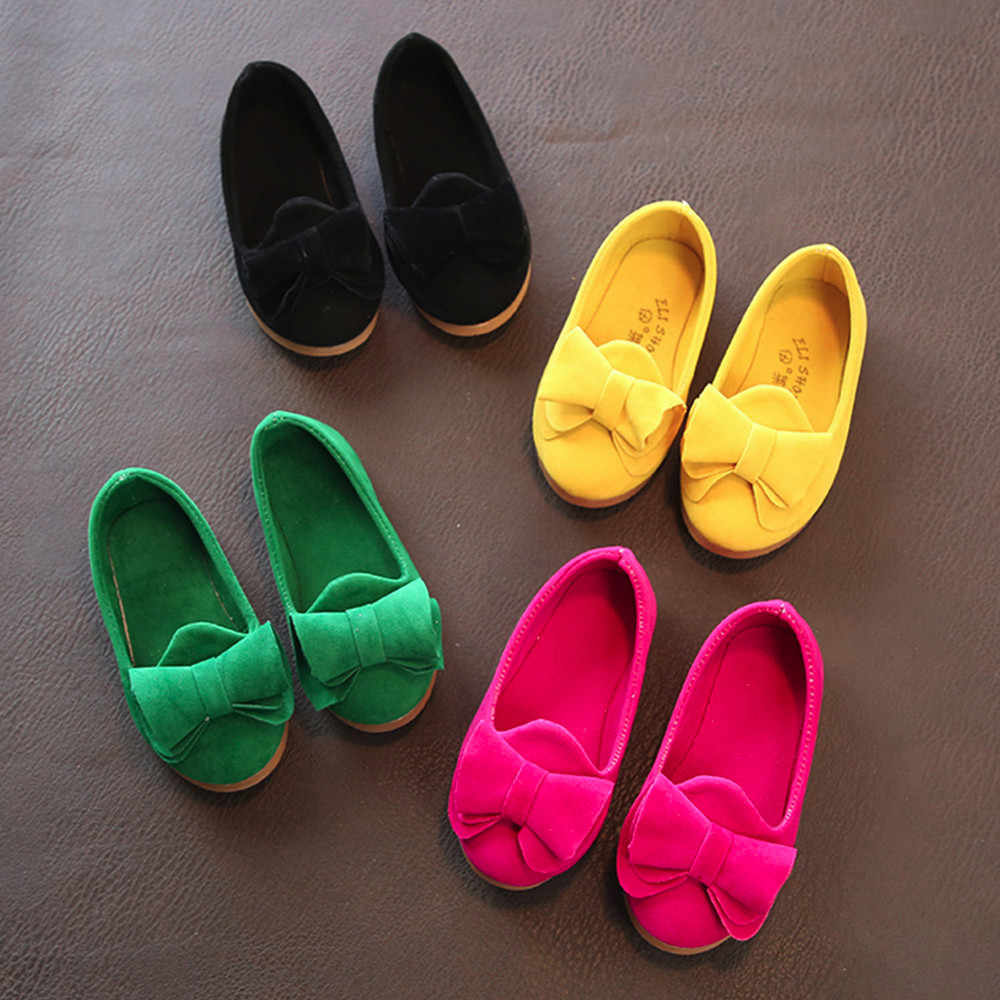 Baby Girls Bow Sandals Sneaker Toddler Children Pricness Casual Single Shoes  Summer 2018 FashionBoys Girls Sneakers 4 Colors #3