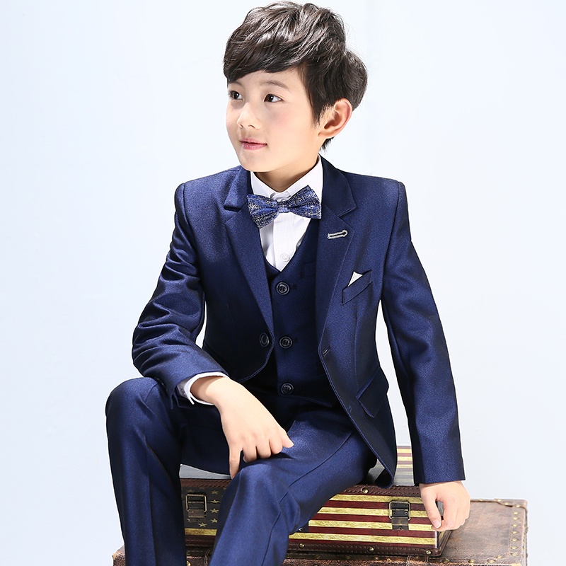 Infant Toddler & Boy Formal Children Wedding Party Suit Blue