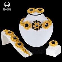 Jewelry-Set African Beads Nigerian Wedding BAUS Dubai Gold-Color Wholesale Woman Fashion