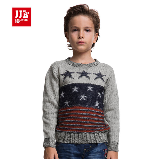 boys sweaters classical round neck knitted sweater autumn winter style children clothes keep warm for boy 2015 new free shipping