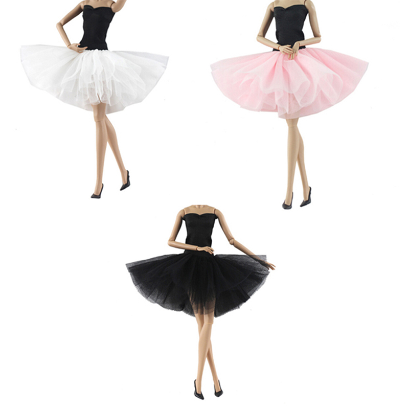 1pcs Doll Skinny Ballet Dance Dress Set Skirt Dress Outfit Clothes For 18 Inch  Girl/Our Generation/My Life/Journey Doll