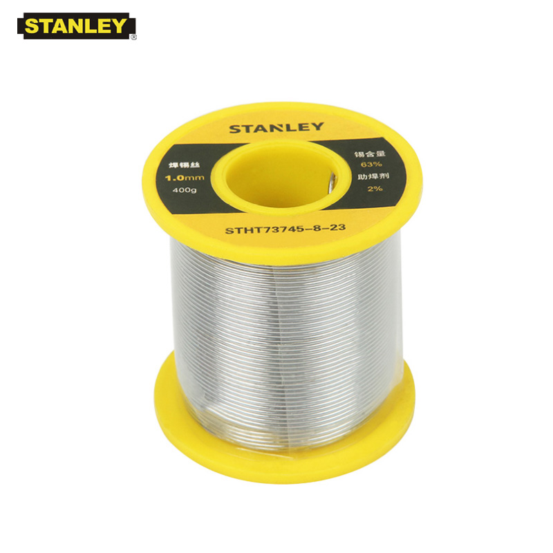Stanley 1pcs high quality 0.8mm 1.0mm solder wire with flux 2% tin lead 63/37 200g 400g tin wire reel roll welding line 63 37