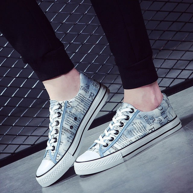 Discounts Men 2016 Spring Autumn Mixed Color Lace-up Outdoors Canvas Shoes Fashion Casual Soft Comfortable Flats SMYDC-B0006