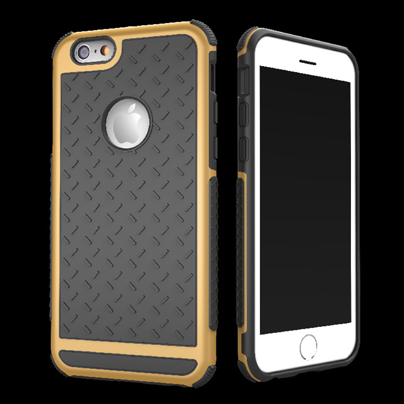 5S New Luxury Phone Cases For Apple iPhone 5 5Se 6 /6s Plus 5.5 Rubber Hybrid PC Back Cover Rugged Matte Hard Back Phone Housing
