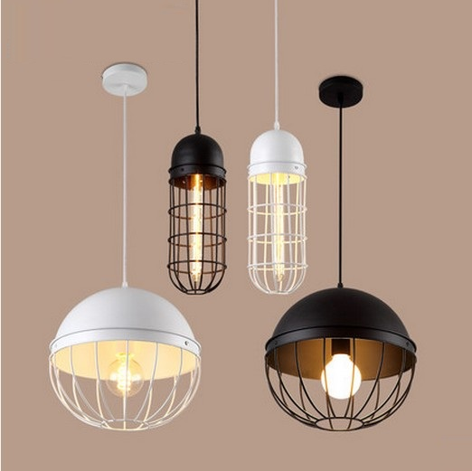 Retro Loft Style Iron Droplight Industrial Vintage Pendant Light Fixtures For Dining Room Edison Hanging Lamp Lamparas retro loft style iron cage droplight industrial edison vintage pendant lamps dining room hanging light fixtures indoor lighting