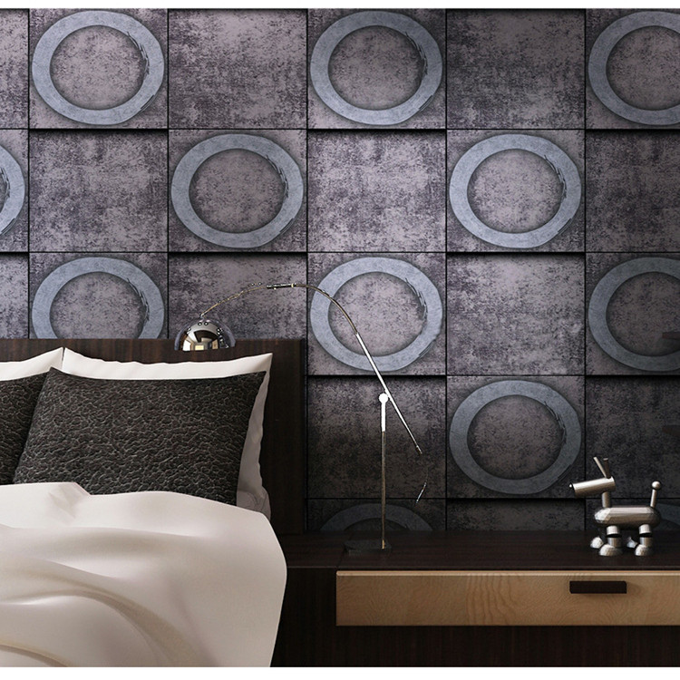 3D Concrete Old Stone Wall Paper Roll Mural wallpaper Decor Background special hard concrete nails wall paintings nail