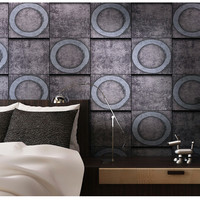 3D Concrete Old Stone Wall Paper Mural Wallpaper