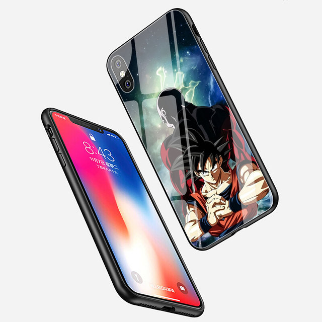 Dragon Ball Son Goku Tempered Glass Cover Case for iPhone Models