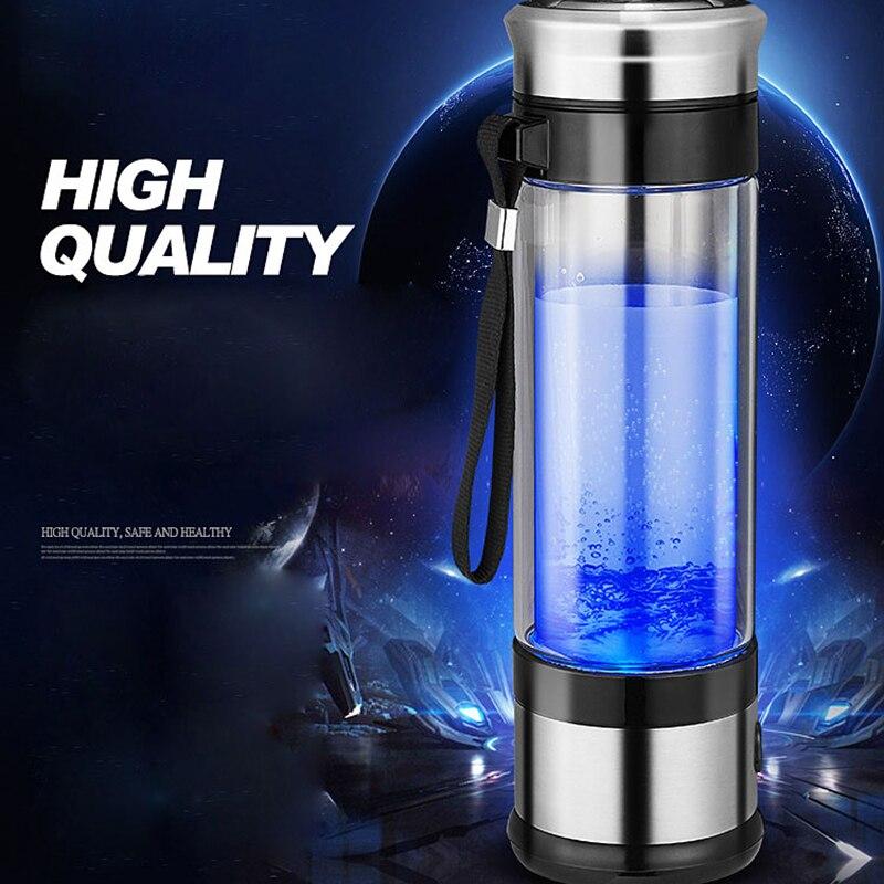 Portable Hydrogen Generator Ionizer For Pure H2 Rich Hydrogen Water Bottle Electrolysis Hidrogen Healthy Anti-Aging Cup 350ML