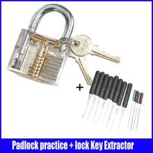 10 set/lot de la práctica por mayor candado cutaway lock & huk llave quebrada Extractor Set herramienta del cerrajero