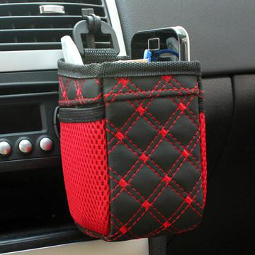 Adeeing Interior Air Vent Cell Phone Holder Pouch Bag Storage Coin Organizer With Hook For Car Easy Installation R33