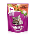 Whiskas Cats Dry Food  for Adult Cats Delicious Pads with Sour Cream Vegetables Beef and Rabbit 800g