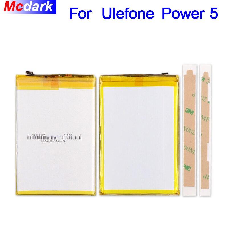 Mcdark 13000 mAh Batterie pour Ulefone puissance 5 Batterie Bateria accumulateur AKKU ACCU PIL téléphone Mobile + 3 M bande
