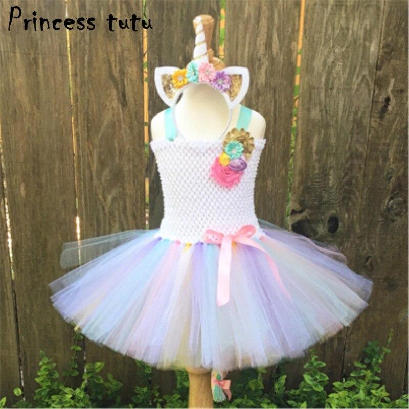 1 12 years fancy baby girl tutu dress little pony dress