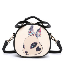New Cartoon Clutch Women Mini Crossbody Bag Printing PU Leather Female Shoulder bags for Girls Children SS0156