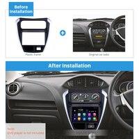 Harfey Car 2Din Fascia Trim Radio Double Din Install kit for SUZUKI ALTO 800 2014 Audio Player Frame Auto Stereo UV Black Panel