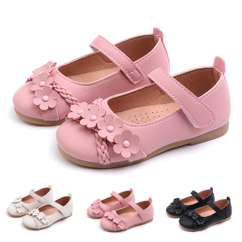 SZYADEOU Kids Baby Summer Sandals For Girls Rubber Flower Floral Children Princess Shoes Leather Beach Sandals סנדלים בנות  L4