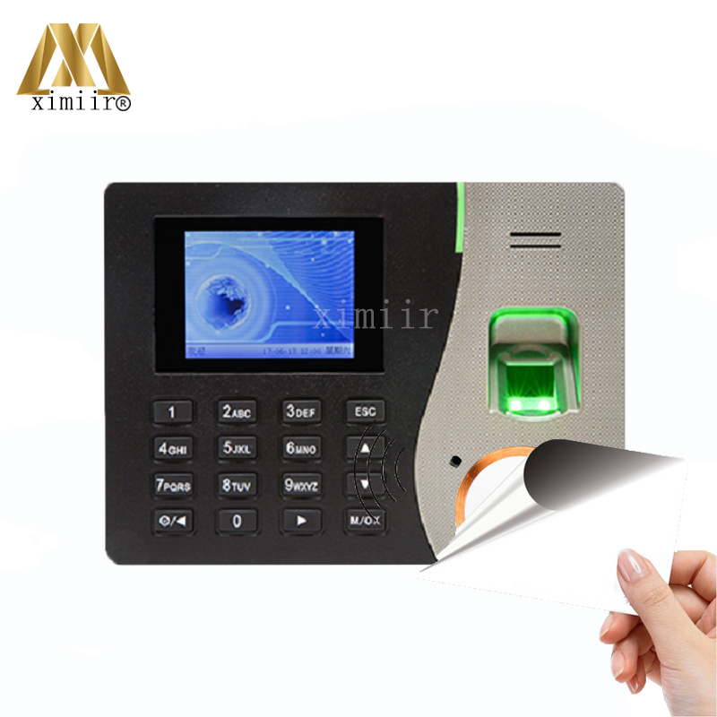 PT600 ZK Biometric Fingerprint Time Attendance System With TCP/IP Communication Fingerprint And MF Card Time Attendance Recorder zk multibio700 door access controller biometric face and fingerprint time attendance and access control system with accessories