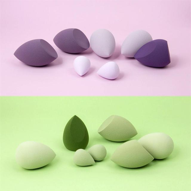 Beauty Makeup Sponge Blenders - Ultra-Soft Latex-Free Foundation Cream Concealer Blender 7pcs/pack 5