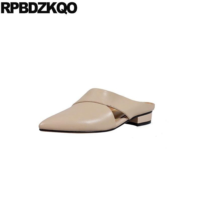 Pointu noir Chaussures Luxe Bout Main À Réel Véritable 3R54ALj