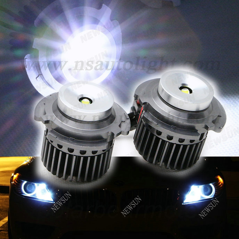 High Power 20W ! Cree chips LED Marker for BMW E61 525d 525i 525xd 525xi Angel Eyes led Marker ring OEM part no 63127187952 newest design e61 e60 led marker angel eyes car headlight for bmw 525d 525i 525xd 525xi 530d 530i 530xd 530xi 535d 550i m5