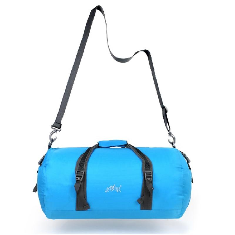 AONIJIE 45L 남성 여성 접이식 나일론 가방 야외 스포츠 헬스 클럽 캠핑 하이킹 크로스 바디 숄더 메신저 백
