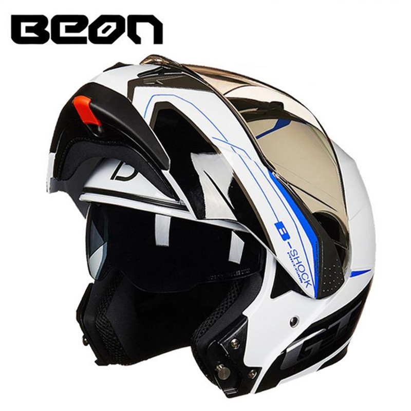 BEON fashion motorcycle helmet double lens full helmet helmet anti-glare slow running helmet B-700