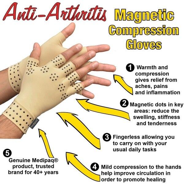 Magnetic Anti Arthritis Health Compression Therapy Gloves Rheumatoid Hand Pain Relief Hand Wrist Brace Corrector De Postura