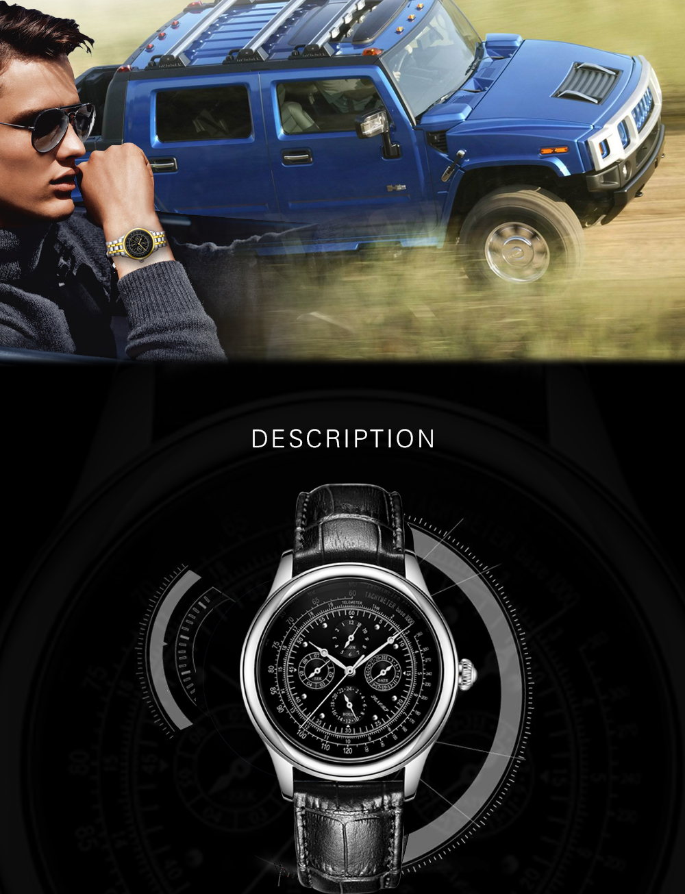 Senors Automatic Mechanical Watch For Men Stainless Steel (2)