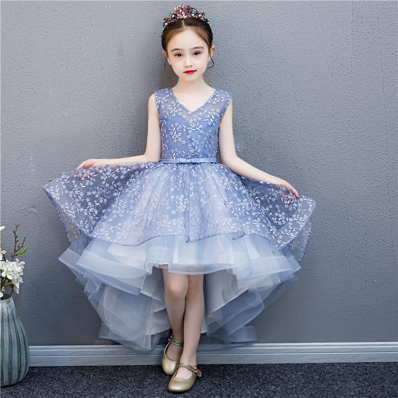 2019 Beauty Fashion Retail Beauty Appliques Petal Princess Gown   Dress   With Embroidery Cute   Flower     Girls     Dress
