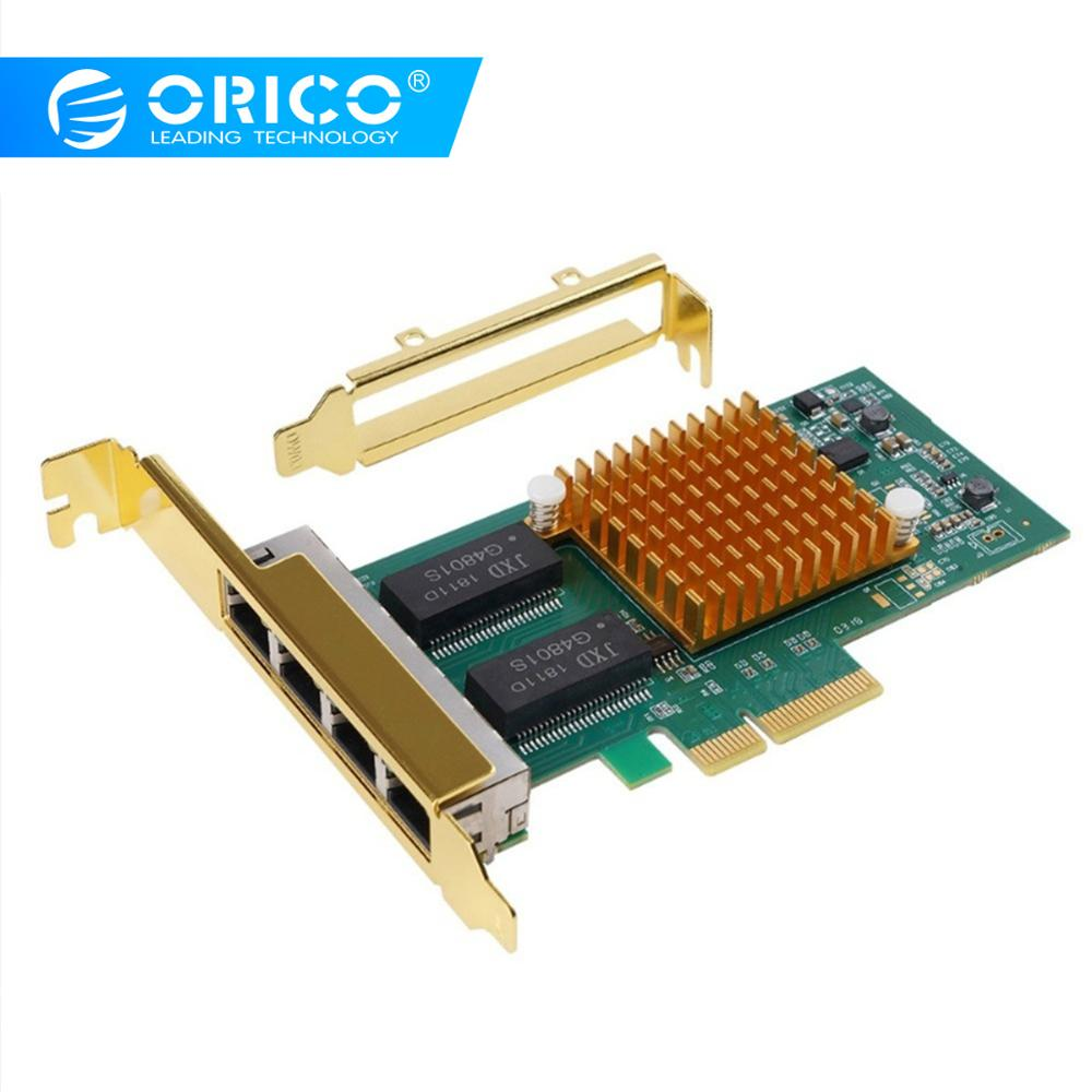 ORICO 4 Ports PCIE to Gigabit Ethernet Network Desktop Controller Full Duplex Flow Control Adapter For PCORICO 4 Ports PCIE to Gigabit Ethernet Network Desktop Controller Full Duplex Flow Control Adapter For PC