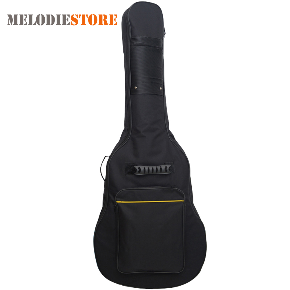 Waterproof Guitar Bag Pad Cotton Thickening Backpack Double Straps Soft Case for 40 / 41 Inch Guitar Gig Bag amumu traditional weaving patterns cotton guitar strap for classical acoustic folk guitar guitar belt s113