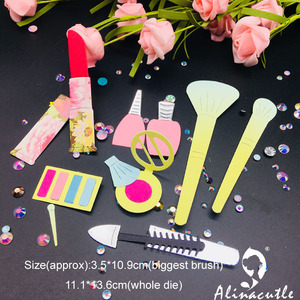 Высечки металла высечки макияж красота женщина губная помада Alinacraft скрапбук бумага ремесло ручной работы карты удар Искусство нож резак