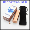 Manhattan Mod Manhattan Mod Clone 1:1 para Electrónica de plata Negro cigarrillo 18650 Batería para e cig vamo v5 vs RDA atomizador