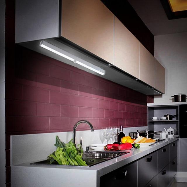 bewegingssensor mini 20 led nachtlampje closet lamp draadloze muur licht batterij home verlichting voor onder keukenkastjes