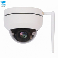 2MP Wireless IP Camera 1080P Wifi Dome PTZ Camera 2.8-12mm Motorized lens Onvif IR CCTV Security Surveillance Camera CAMHI APP все цены