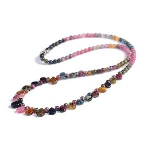 Image 2 - Оптовая продажа, ожерелье jourssnow из натурального турмалина с подвеской в виде капли дождя, ожерелье принцессы для женщин, подарок на день рождения, ювелирные изделия