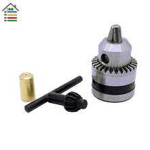 Drill Chuck 0.6-6mm Mount B10 Adapter With 3.17mm Connect Rod Motor Shaft With Key Power Tools Free shipping