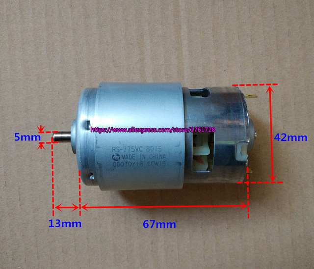 Free shipping ,Brand new Mabuchi 42mm 775 DC motor RS 775VC 18V 18200RPM high speed Large torque drill motor ~