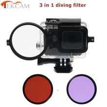 Tekcam for Upgraded Gopro Hero 5 Light Red Diving Filter Underwater Color Correction filter for Gopro hero5 Diving Accessories