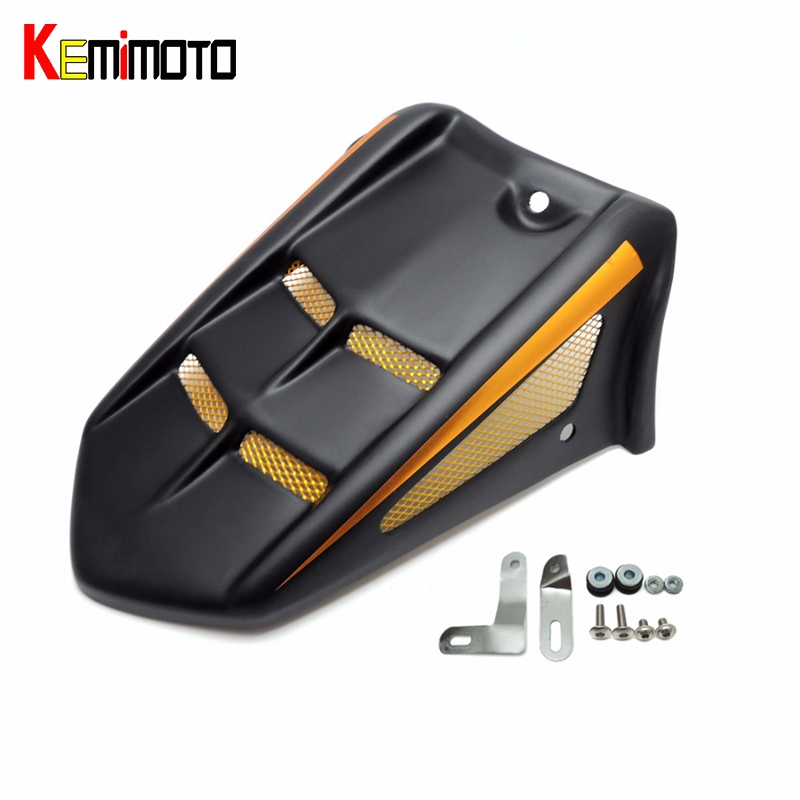 KEMiMOTO MT09 FZ09 ABS Rear Mudguard Hugger Fender for YAMAHA MT-09 FZ-09 MT 09 FZ 09 Tracer 2014 2015 2016 motorcycle parts for yamaha mt 09 fz 09 mt 09 tracer 2014 2015 2016 fz09 mt09 tracer radiator grille rear set chain guards etc
